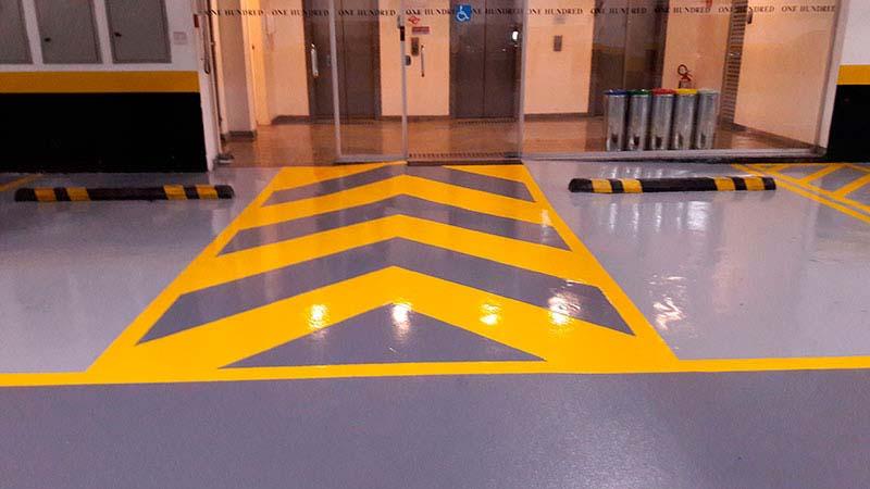 Empresa de demarcação de piso