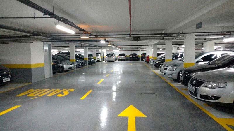 Pintura epoxi para estacionamento