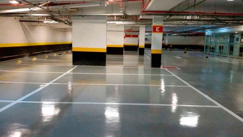 Pintura de piso industrial