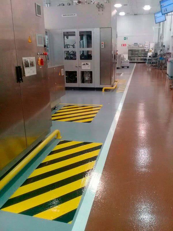 Demarcação de piso industrial